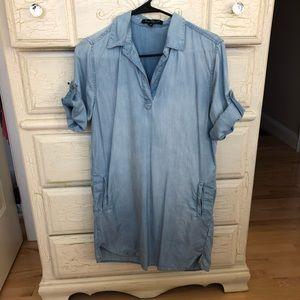Velvet Heart Chambray Boyfriend Shirt Dress Sz XS